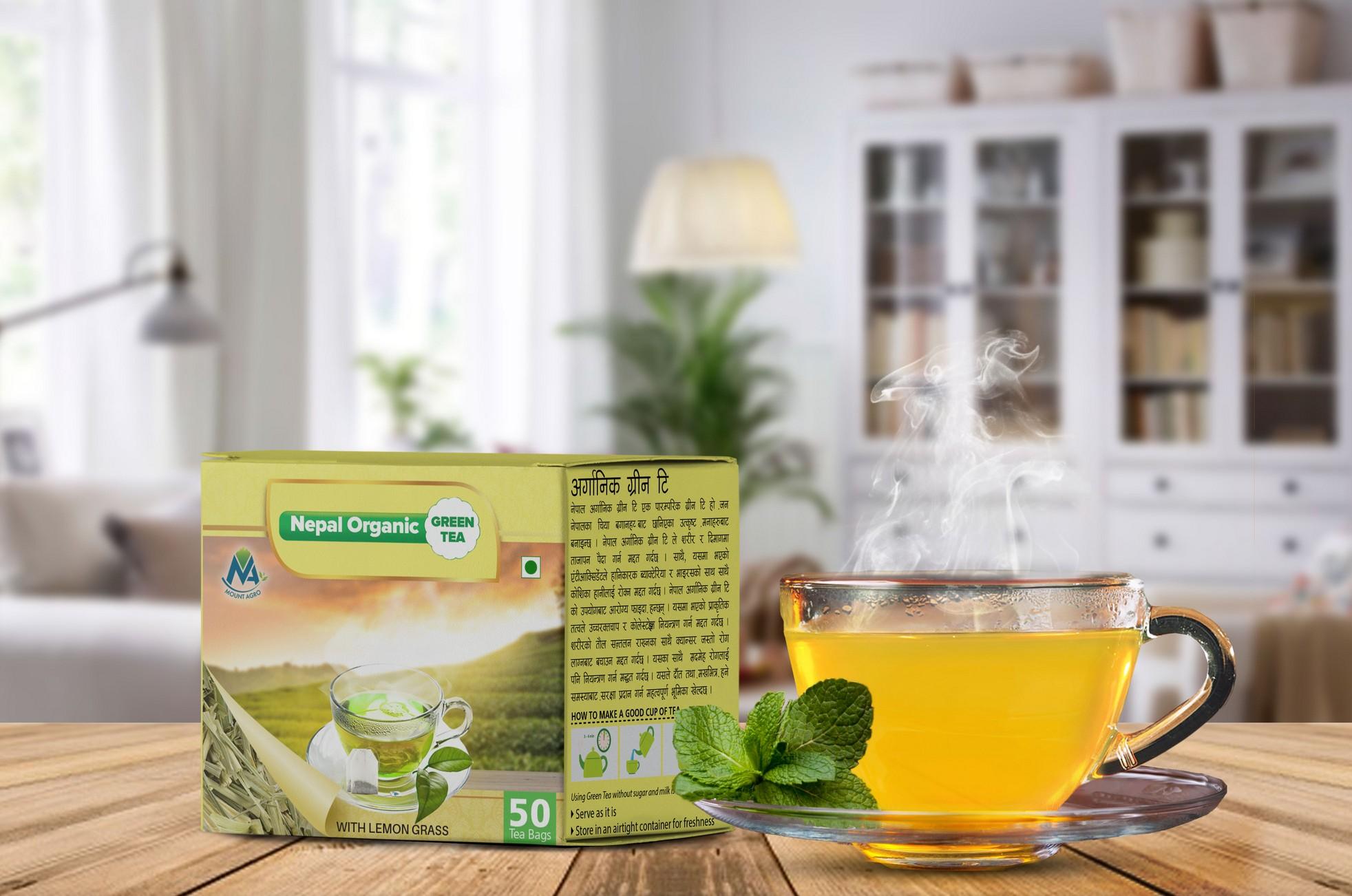 Green Tea with Lemongrass Flavour